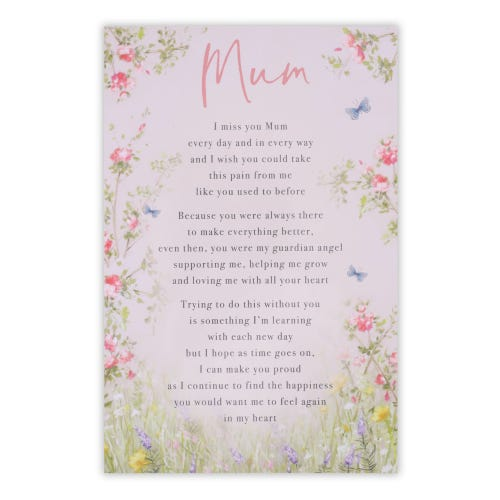 Mum Butterfly Floral Grave Card