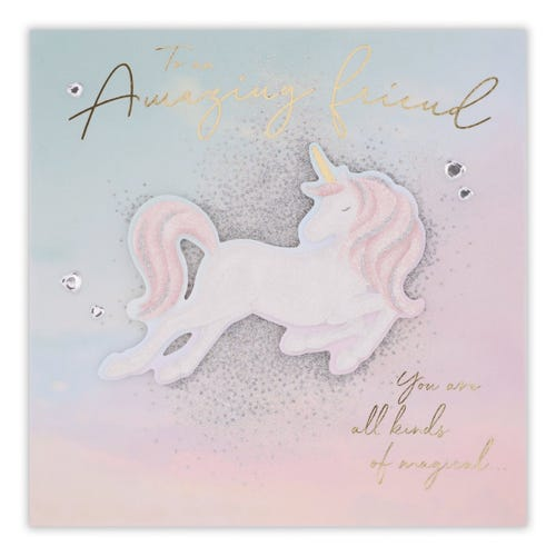 Unicorn With Pastel And Glitter