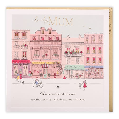 Row Of Boutique Mum Birthday Card
