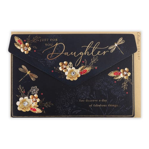 Bling Purse Daughter Birthday Card