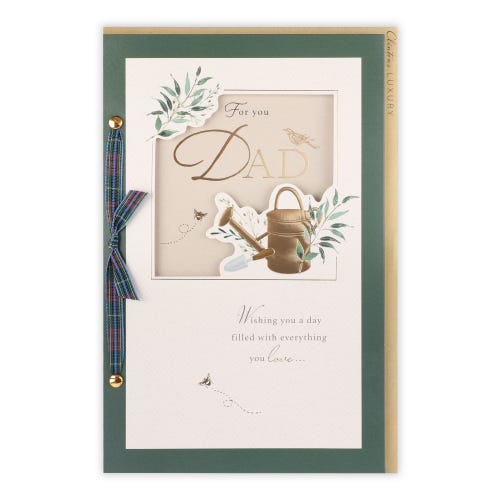Gold Watering Can Dad Birthday Card