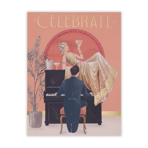 Roaring 20's Couple By Piano