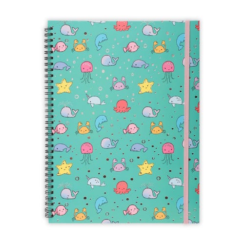 Sea Animals A4 Notepad