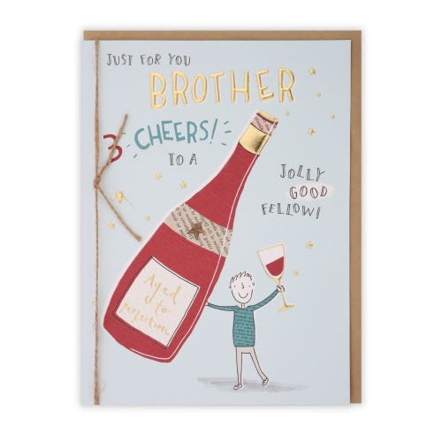 Brother Aged To Perfection Birthday Card