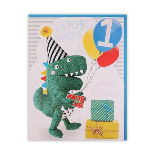 Dino With Balloons