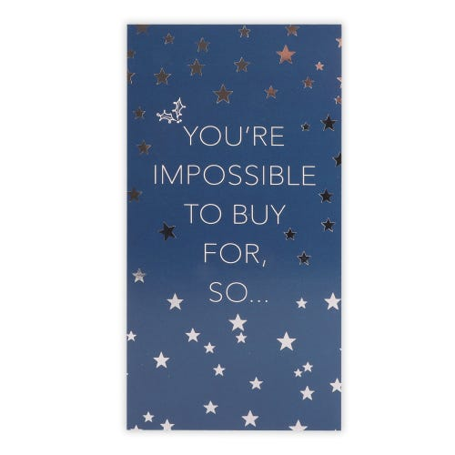 Impossible to buy for Christmas Money Wallet Card