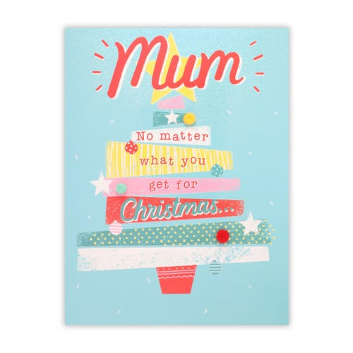 Modern Art Tree Mum Christmas Card