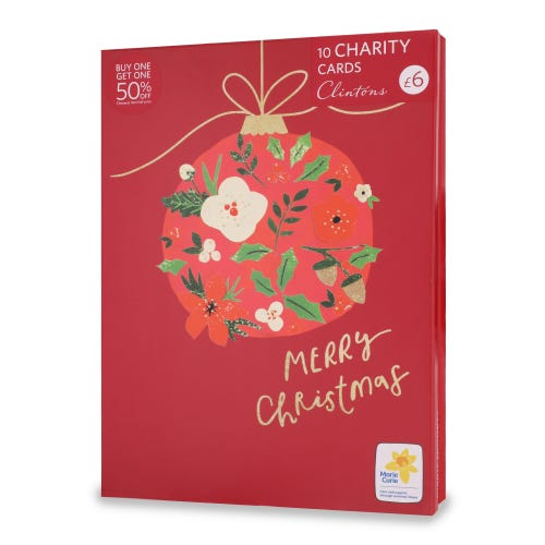 Marie Curie Christmas Charity Cards , Pack of 10, 2 Designs