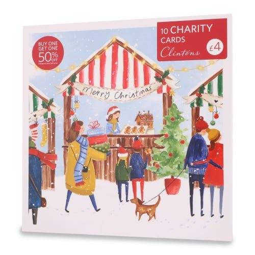 Contemporary Illustration Christmas Charity Cards , Pack of 10, 1 Design