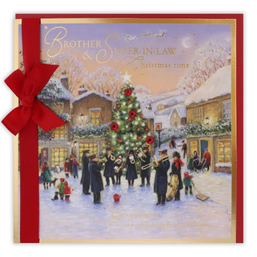 Salvation Army Scene Brother & Sister In Law Christmas Card