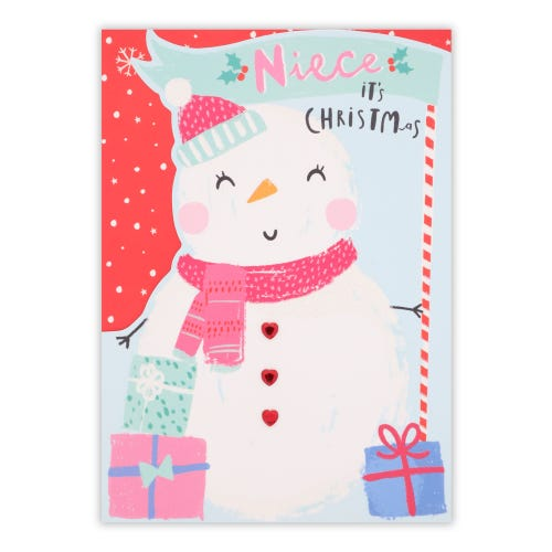 Snow Lady Niece Christmas Card