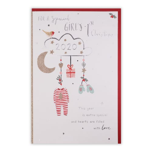 A Special Girl's 1st Christmas Card