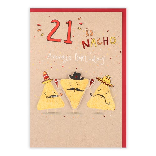 Nacho Characters 21st Birthday Card