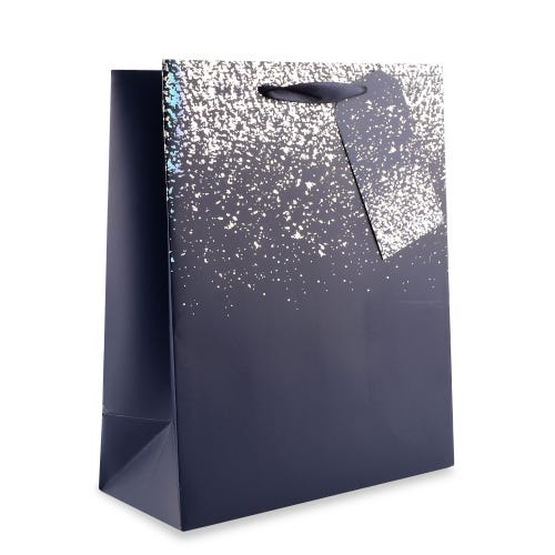 Blue with Silver Speckle Large Gift Bag