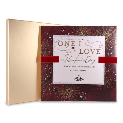 Heart Fireworks One I Love Boxed Card