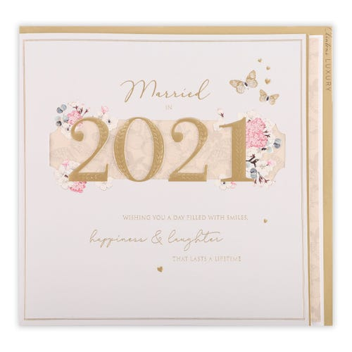 2021 Married Wedding Card