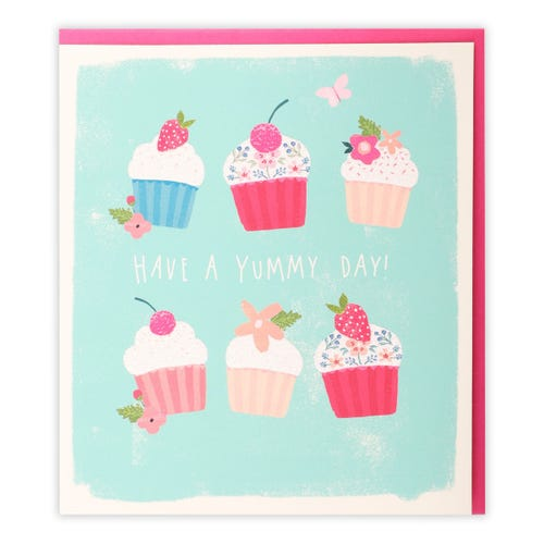 General Birthday Simply Clintons Yummy Cupcakes Card