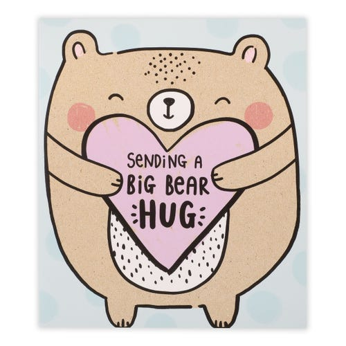 General Birthday Simply Clintons Bear Hug Card
