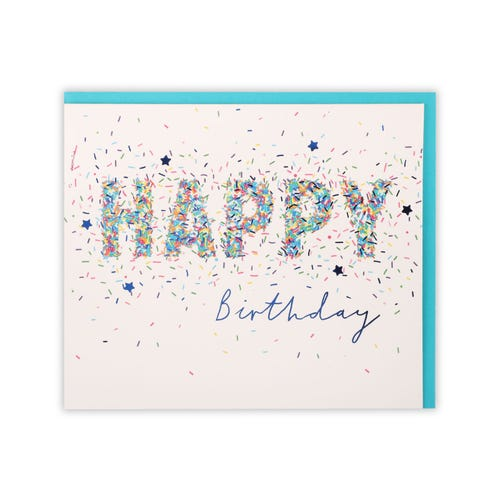 General Birthday Simply Clintons Confetti Lettering Card