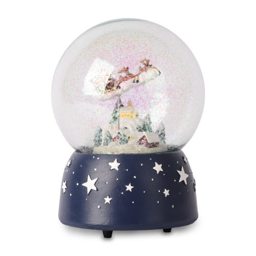 120mm Musical Water Dome - Santa And Sleigh