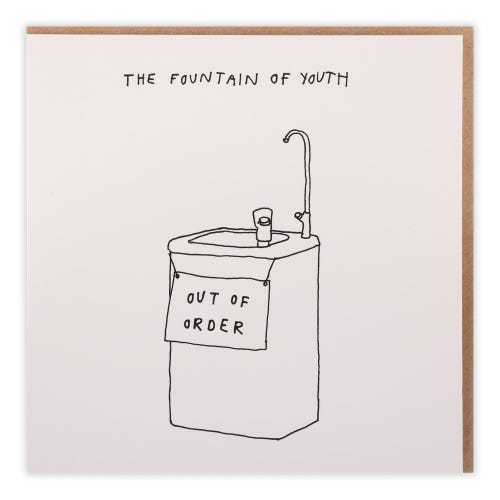Fountain Of Youth Birthday Card