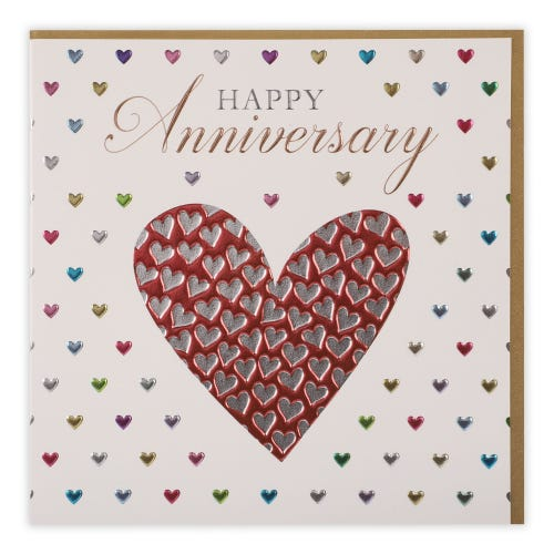 Anniversary - Lots Of Hearts  Card