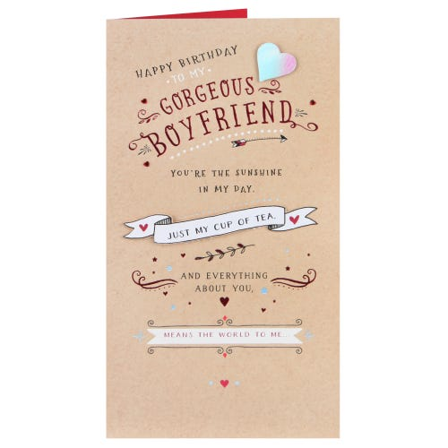 Gorgeous Boyfriend Birthday Card