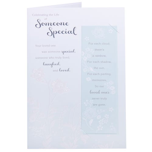 Sympathy Card- Green White Flowers