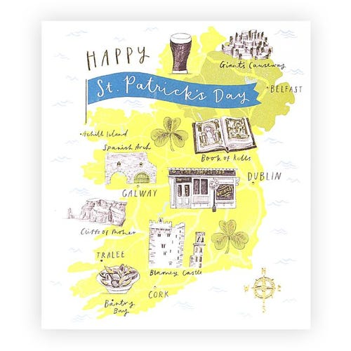 Map of Ireland St. Patrick's Day Card