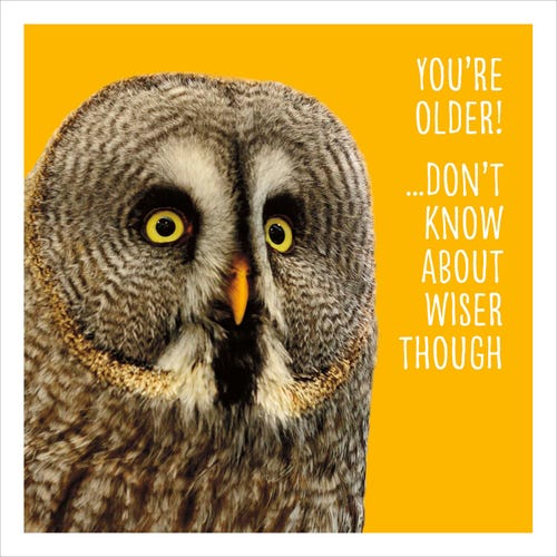 Owl You're Old! Blank Card