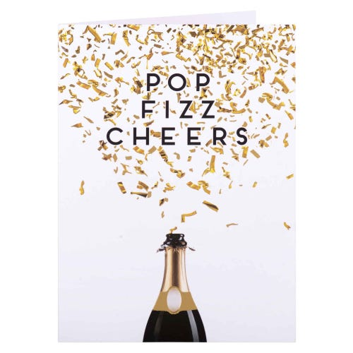 Pop Fizz Cheers Congratulations Card