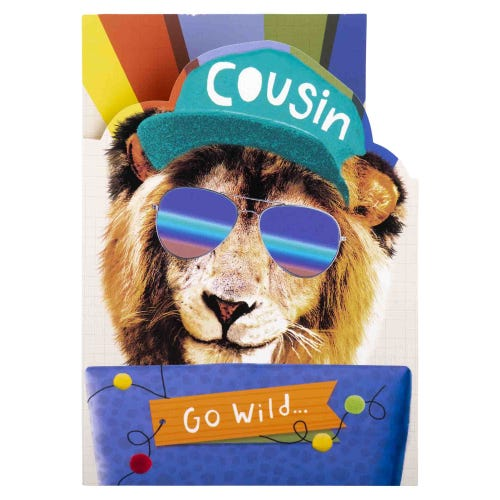 Cool Cat Cousin Birthday Card
