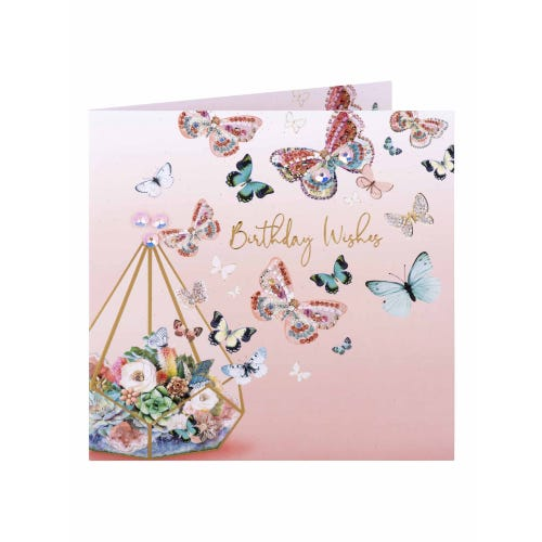 Butterflies With Love Birthday Card