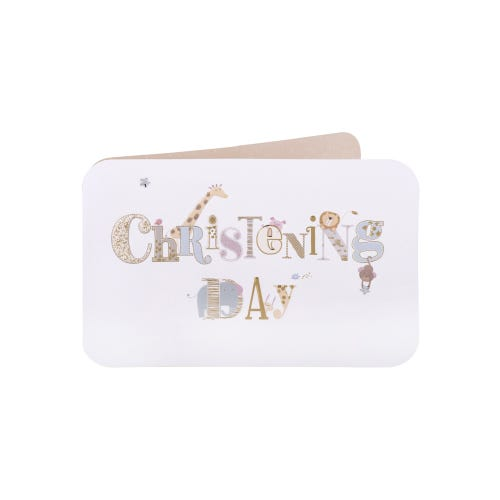 Animals Christening Day Card