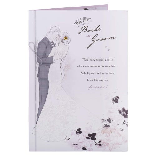 Happy Couple Bride & Groom Wedding Card
