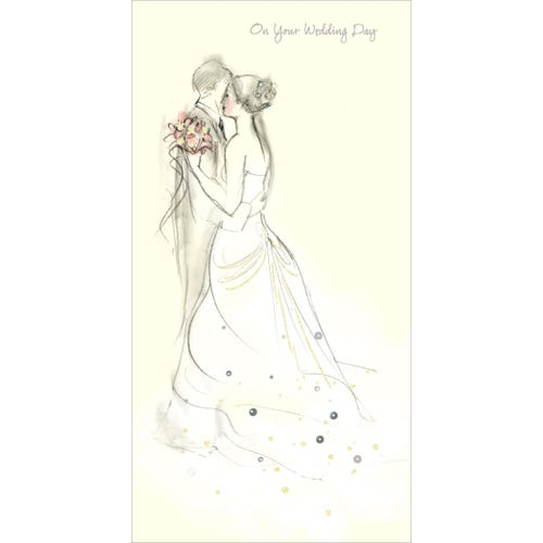 On Your Wedding Day Couple Card