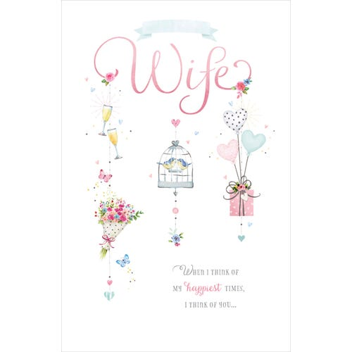 Wife Birthday Card When I Think Of My Happiest Times