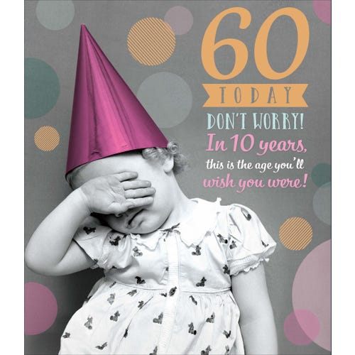 60th Birthday Don't Worry, In 10 Years Card