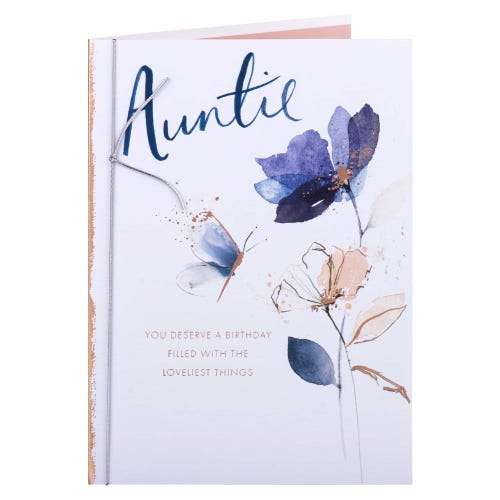 Loveliest Things Auntie Birthday Card