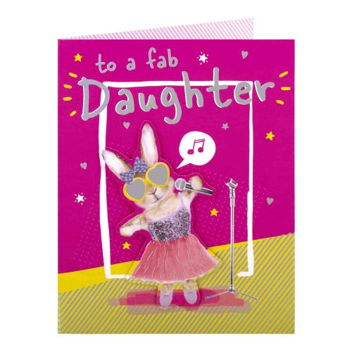 Fab Daughter Birthday Card