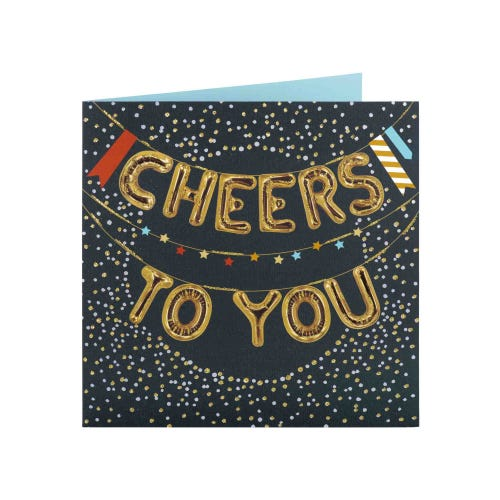Cheers To You Balloon Birthday Card