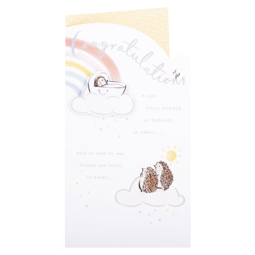 Cute Little Bundle Baby Card