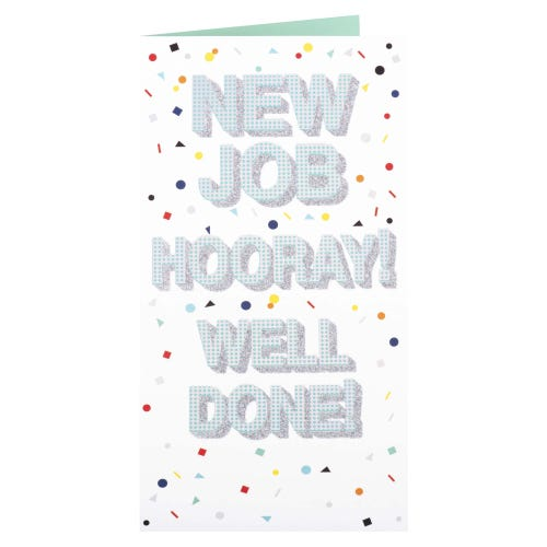 Hooray New Job Card