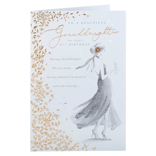 Glamorous Girl Granddaughter Birthday Card