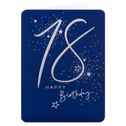 Silver Star 18th Birthday Card