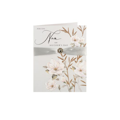 Silver Ribbon Nan Mother's Day Card