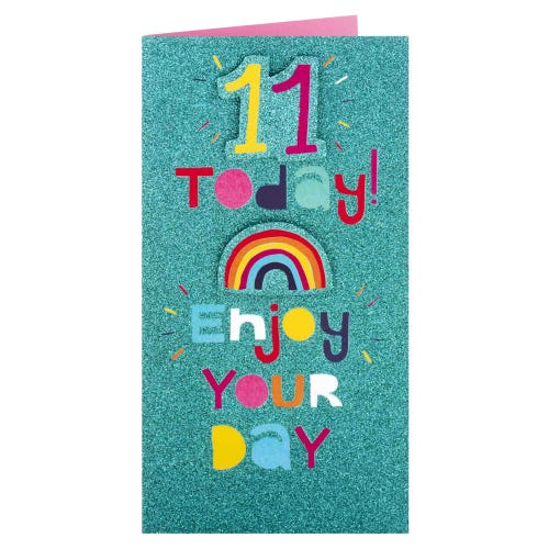 11 Today Rainbow Birthday Card