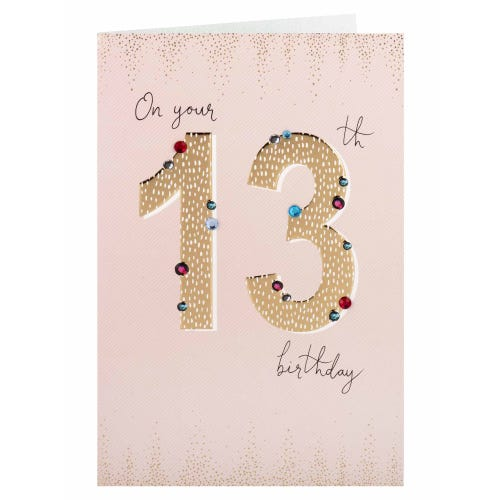 On Your 13th Birthday Card