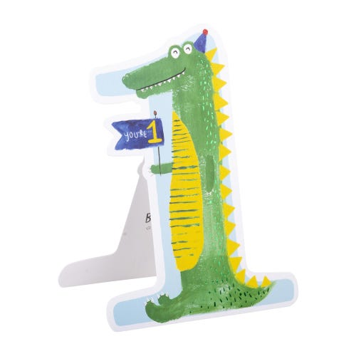 Happy Dinosaur 1st Birthday Card