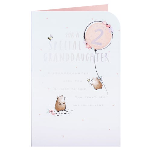 Happy Bears Granddaughter 2nd Birthday Card